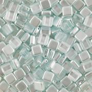 Korálky dvoudírkové TILE - 30ks - 2522520 - miminkovsky modrá