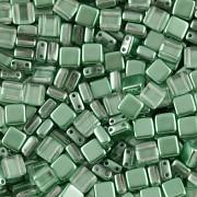 Korálky dvoudírkové TILE - 30ks - 2722542 - zelená