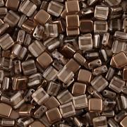 Korálky dvoudírkové TILE - 30ks - 3222504 - čokoládová
