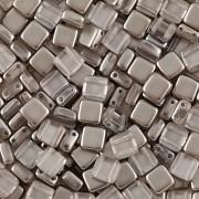 Korálky dvoudírkové TILE - 30ks - 3522538 - stříbrná