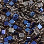 Korálky dvoudírkové TILE - 30ks - 4022201 - POKOV - bermuda blue