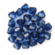 Swarovski Elements korálky XILION 5328 – Sluníčka – Dark Sapphire – 4mm
