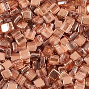 Korálky dvoudírkové TILE - 30ks - 4327101 - POKOV - rose gold