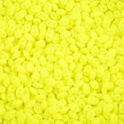 Dvoudírkový rokajl - SuperDuo® - 12,5g - NEON - žlutá