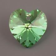 Swarovski Elements přívěsky 6228 – Srdce – Peridot AB – 14mm