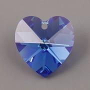 Swarovski Elements přívěsky 6228 – Srdce – Sapphire AB – 10mm