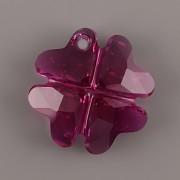 Swarovski Elements přívěsky 6764 - Čtyřlístek - Fuchsia - 23mm