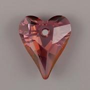 Swarovski Elements přívěsky 6240 – Srdce divoké – Lilac Shadow - 12mm
