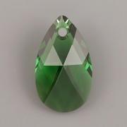 Swarovski Elements přívěsky 6106 – Hruška – Dark Moss Green - 16mm