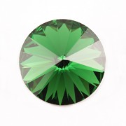 Swarovski Elements Rivoli 1122 – Dark Moss Green Foiled - 14mm