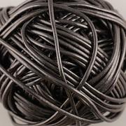 Kožená šňůrka kulatá - černá 1,5mm - metr