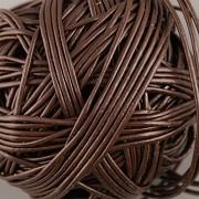 Kožená šňůrka kulatá - černohnědá 0,5mm - metr