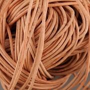 Kožená šňůrka kulatá - přírodní 1,5mm - metr