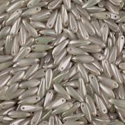 Korálky JAZÝČEK 11mm - 60ks - 2325028 - stříbrná