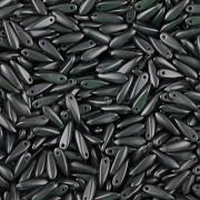 Korálky JAZÝČEK 11mm - 60ks - 2525037 - tmavě šedá