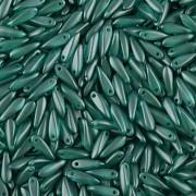 Korálky JAZÝČEK 11mm - 60ks - 2225043 - světlá petrolková