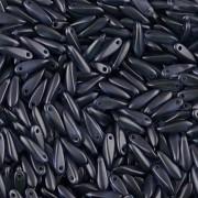 Korálky JAZÝČEK 11mm - 60ks - 2425042 - temně modrá