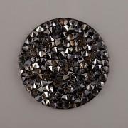 Crystal Rocks Swarovski samolepící - Silver Shade na černém podkladu - 15 mm