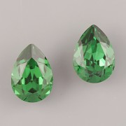 Slzička Swarovski Elements 4320 - Dark Moss Green Foiled - 14mm