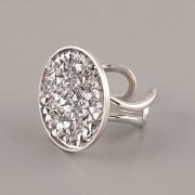 Prsten pro Crystal Rocks 25mm - rhodiováno