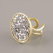 Prsten pro Crystal Rocks 25mm - pozlaceno