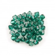Swarovski Elements korálky XILION 5328 – Sluníčka – Emerald – 4mm