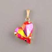 Přívěsek SWEET HEART Swarovski Elements - Astral Pink 17mm