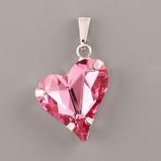 Přívěsek SWEET HEART Swarovski Elements - Rose 17mm