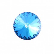Swarovski Elements Rivoli 1122 – Bermuda Blue Foiled – 18mm