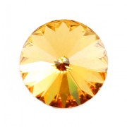 Swarovski Elements Rivoli 1122 – Light Topaz Foiled – 8mm
