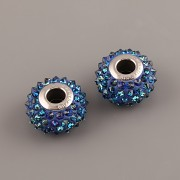 BeCharmed Pavé korálky SPIKE Swarovski Elements 180401 - Bermuda Blue