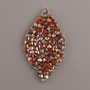 LIST Crystal Rocks Swarovski Elements - Red Magma + MLG