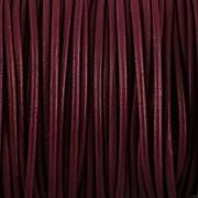 Kožená šňůrka kulatá - temně fialová 1,5mm - metr