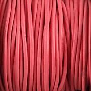 Kožená šňůrka kulatá - růžová 1mm - metr