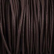 Kožená šňůrka kulatá - temně hnědá 1mm - metr