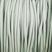 Kožená šňůrka kulatá - zelinkavá 2mm - metr