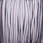 Kožená šňůrka kulatá - ledová modrá 2mm - metr