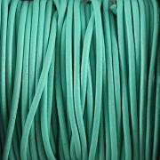 Kožená šňůrka kulatá - světle zelená 0,5mm - metr