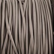 Kožená šňůrka kulatá - šedá 0,5mm - metr