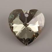 Swarovski Elements přívěsky 6228 – Srdce – Iridescent Green - 14mm