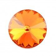 Swarovski Elements Rivoli 1122 – Tangerine Foiled - 10mm