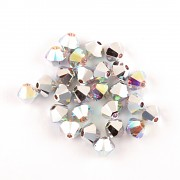 Swarovski Elements korálky XILION 5328 – Sluníčka – Crystal AB CAL - 4mm