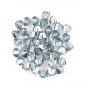Swarovski Elements korálky XILION 5328 – Sluníčka – Indian Sapphire AB - 4mm