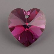 Swarovski Elements přívěsky 6228 – Srdce – Fuchsia AB – 10,3x10mm