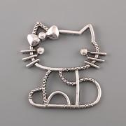 Přívěsek Hello Kitty děravá - platina