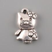 Přívěsek Hello Kitty tlouštík - platina