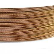 Nylonové lanko bižuterní - zlaté