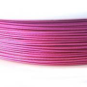 Nylonové lanko bižuterní - ostře růžové