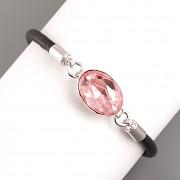 Náramek DARLING pro Ovál Swarovski Elements - Light Rose