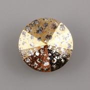 Swarovski Elements Rivoli 1122 – Crystal GOLD PATINA F - 10mm